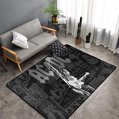 Pimkly Ac-DC - Alfombras suaves para dormitorio, camping, para sala de estar, niños, niñas, habitación, cuarto de guardería, decoración del hogar, alfombra de 152 x 96 cm