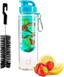 Andrew James Fruit Infusion Water Bottle With Bag Clip and Cleaning Brush, 700ml