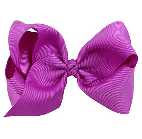 Covermason Pince à cheveux noeud pour enfants papillon (pourpre)