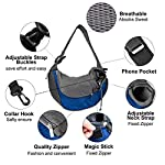 Pet Carrier Hand Free Sling Puppy Carry Bag Small Dog Cat Traverl Carrier with Breathable Mesh Pouch for Outdoor Travel Walking , Pet Supplies (blue) 11