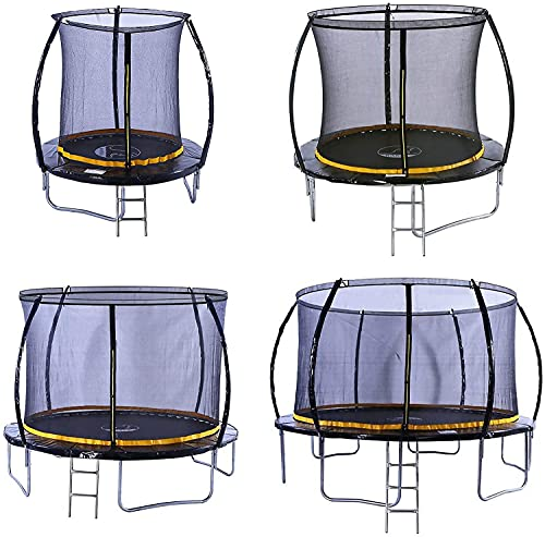 kanga premium trampoline with safety enclosure, net, ladder and anchor kit (8ft)