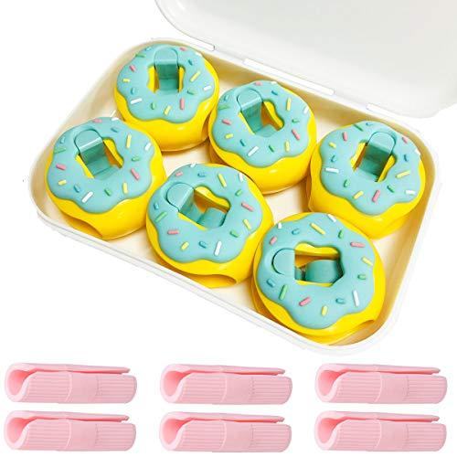 tangger 18 PCS Clips de Funda Nórdica Antideslizante,Pinzas para Sábanas de Cama,Donuts Clips de Sujetadores de Edredón Arreglar Sábanas y Edredones,Sin Aguja