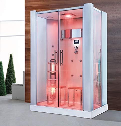 XXL Luxus LED Dampfdusche +Infrarotsauna-Kombi Infrarot Sauna-Wärmekabine +Radio