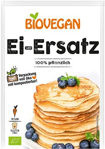 sostituto Dell Uovo Biologico '1 bustine x 20g' Biovegan | Sostituto Dell Uovo Senza Glutine - 100% Vegetale Sostituto Dell'Uovo In Polvere Con Farina Dolce Di Lupino