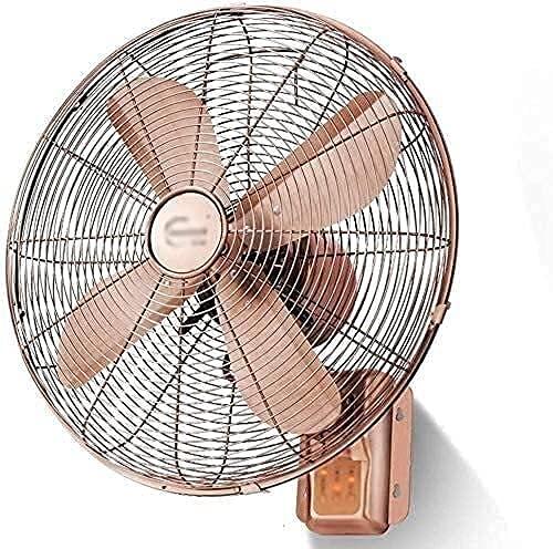 PLDT Home Skilling Head Desktop Fan Industrial - Ventilador de Pared - Ventilador de Pared Remoto de 16 Pulgadas Head Head Gale Red Copper Electric Fan