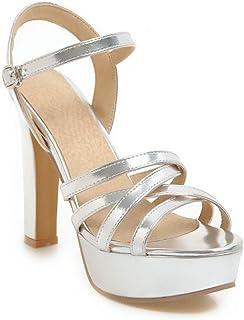 BalaMasa Womens ASL06285 Pu Platform Heels