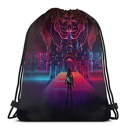 SHINIUCUN Legend Zelda Kordelzug-Tasche, Turnbeutel, Rucksack, Rucksack, Strandsack, für Fitnessstudio, Outdoor, Reisen