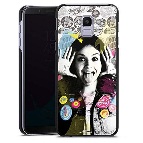 DeinDesign Hard Case kompatibel mit Samsung Galaxy J6 2018 Schutzhülle schwarz Smartphone Backcover Soy Luna Disney
