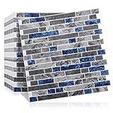 Sunix 10 PiezasPegatinas de Azulejos autoadhesivos 3D, Panel de Azulejos antisalpicaduras y antimoho de Gama Alta de Azulejos para Cocina y baño, Solo Hay Que pelar y Pegar, extraíble, 30.5x30.5cm