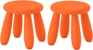IKEA MAMMUT Children's Stool, indoor/outdoor, Orange(Pack of 2)