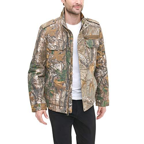 Levi's Men's Washed Cotton Two Pocket Military Jacket, Realtree camo, Medium