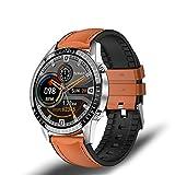 ZUEN I9 Nuevo Reloj Inteligente Modo Multi-Deporte De Los Hombres De La Frecuencia Cardíaca Llamada Telefónica del Bluetooth Reloj Inteligente Marca Impermeable Adecuada para Huawei Android iOS,F