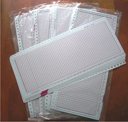 USA Premium Store 50 BLANK PUNCHCARD (24 Stitch) machine knitting Brother/SilverReed/Studio/Singer