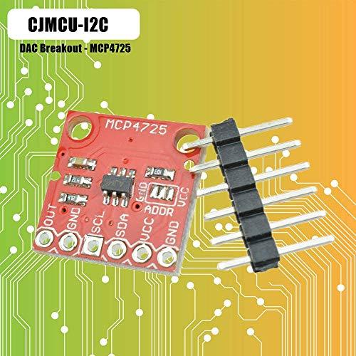 iHaospace MCP4725 I2C DAC Breakout Module 12Bit Resolution for Arduino Raspberry Pi Red