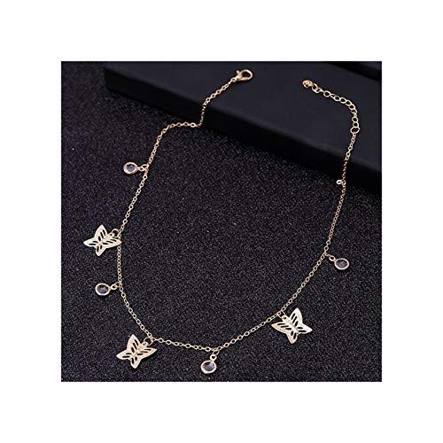 WAZG SYBLD Collar de Cadena Estrella de Mariposa (Metal Color : Style 10)