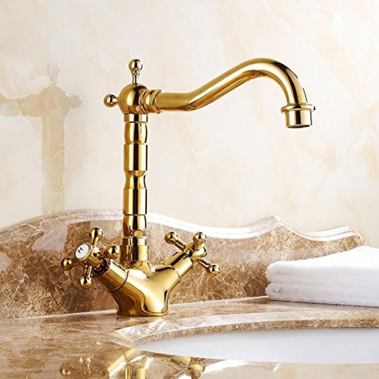 Lvsede Bad Wasserhahn Design Küchenarmatur Niederdruck Wasserhahn Kupfer Badezimmer Retro Becken Becken Doppelgriff L6087
