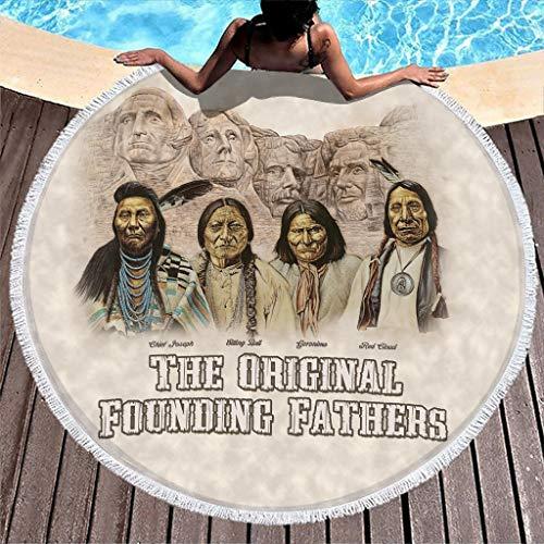 The Original Rounding Fathers - Toalla de playa (150 cm), diseño de indios nativos americanos