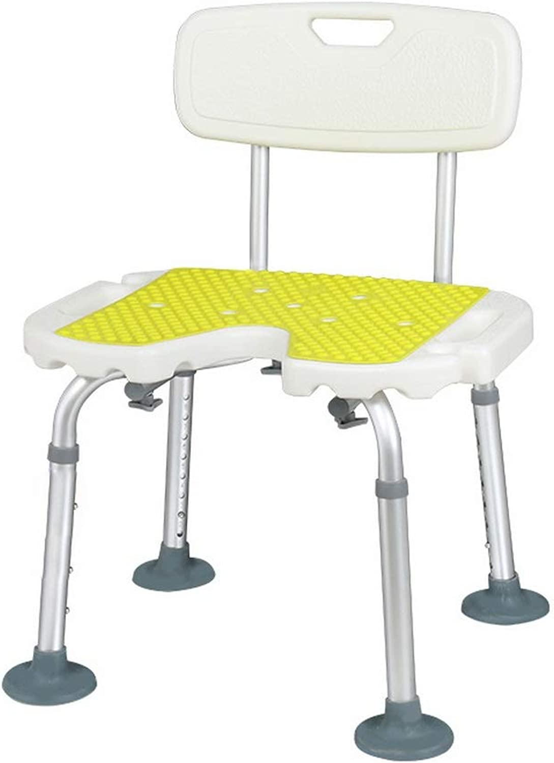 Shower Seat, Big Pad for The Elderly, Non-Slip Bath Chair, Aged Disabled Pregnant Adult with Backrest Shower Stool