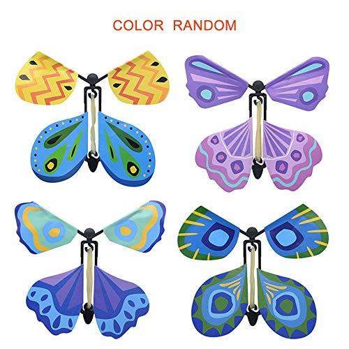 Silverdewi Flying Butterfly Novel Bambini Puntelli magici Giocattolo per Bambini Giochi Divertenti Gadget Giocattolo educativo Colore Casuale - Casuale