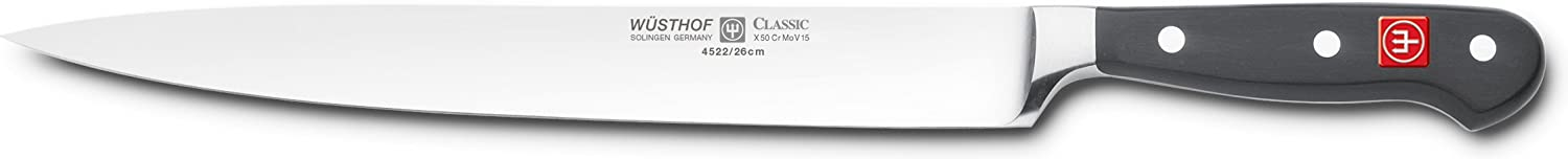 Wusthof 4522-7 26 CLASSIC Carving Knife, One Size, Black, Stainless Steel
