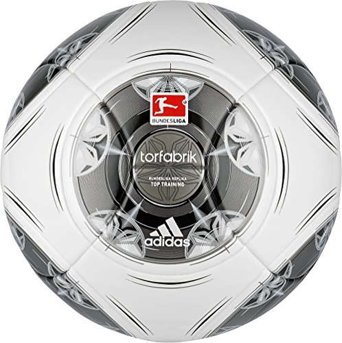adidas Fußball Torfabrik 2013 DFL 13 Top Training, Wht/Silver/Zest/Mtsi, 5, G73539