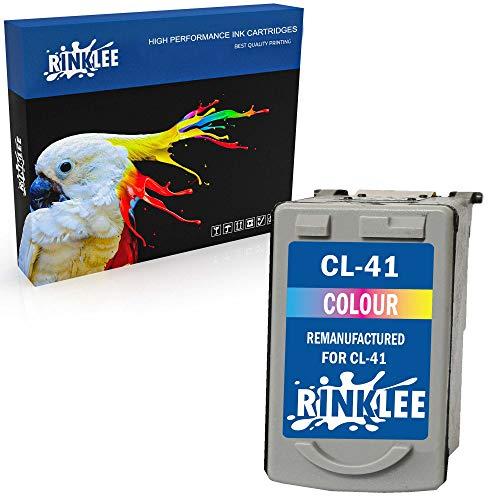 RINKLEE Remanufacturado para Canon CL-41 Cartucho de Tinta Compatible con Canon Pixma iP2600 MP140 MP460 iP1800 iP1900 iP2500 MP190 MP210 MP220 MP170 MP180 MP160 MP450 MP470 MP150 MX300 MX310 | Color