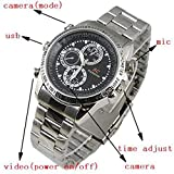 AGPtek India Imported from Koria Steel Wrist Watch with Hidden 720P Spy Camera/Video/Audio/Image