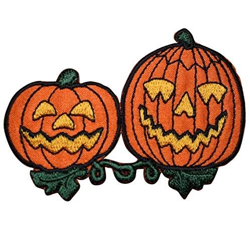 Spk Art Jack-O-Lantern Halloween, Pumpkin Embroidery Applique Iron On Patch, Sew on Patches Badge...