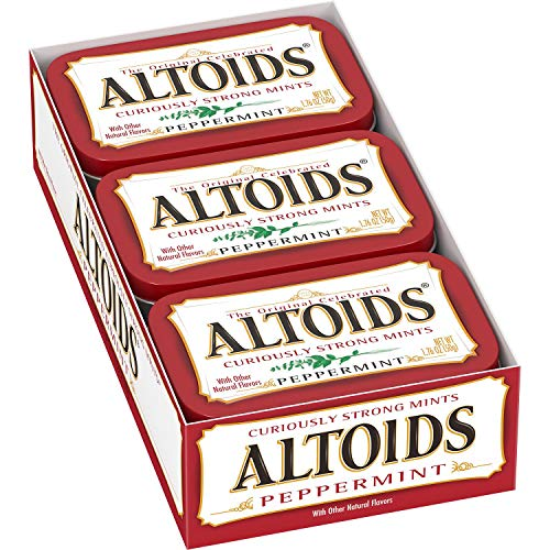 Altoids Curiously Strong Mints 100% Natural Peppermint Net Wt 176 Oz Each X 24 Pack of 24