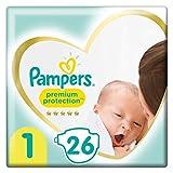 Pampers Baby Windeln Größe 1 (2-5kg) Premium Protection, 26 Stück, Tragepack, Pampers Weichster Komfort Und Schutz