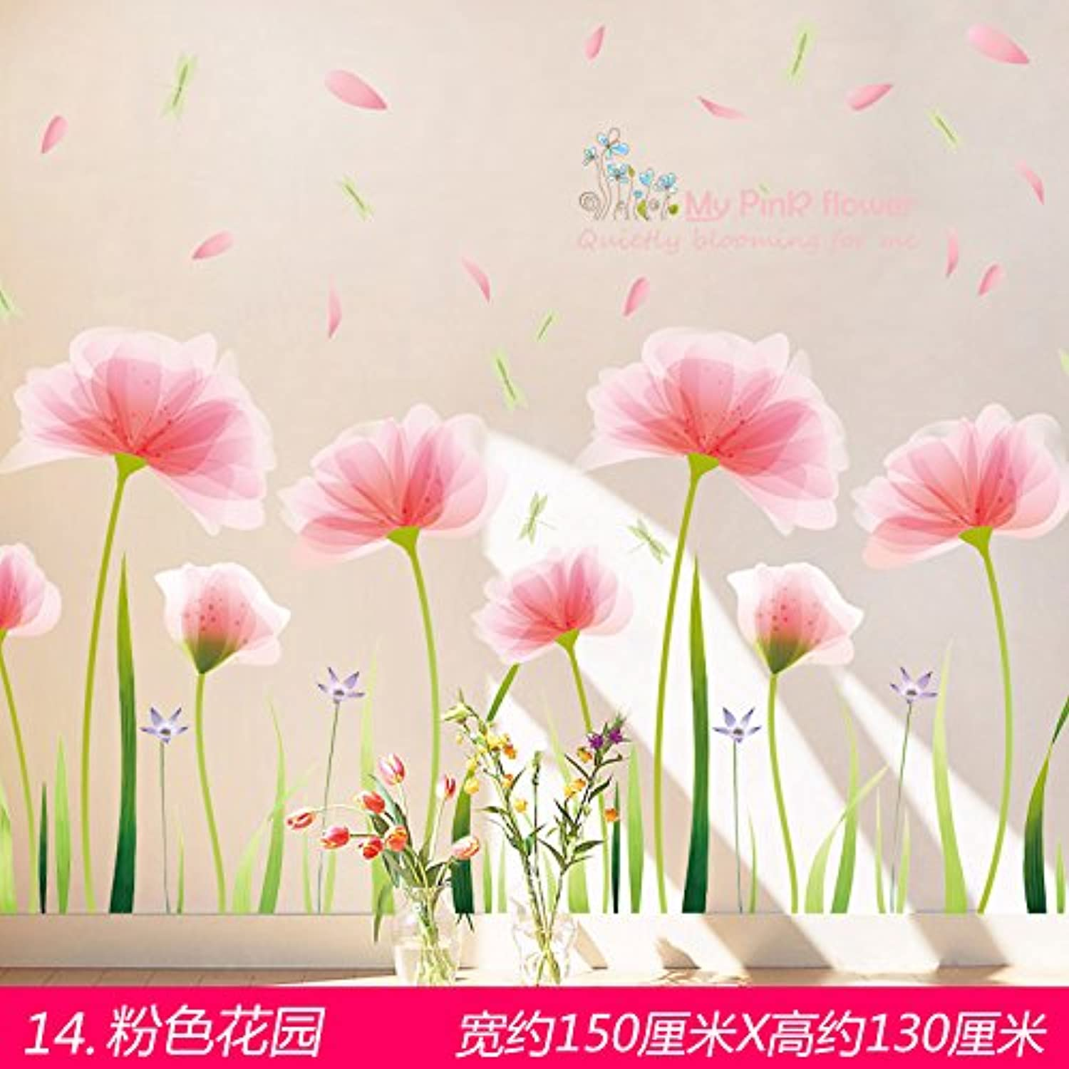 Znzbzt Wall Paper SelfAdhesive Living Room Wall Painting Wall Posters Wall,14. Pink Garden, King