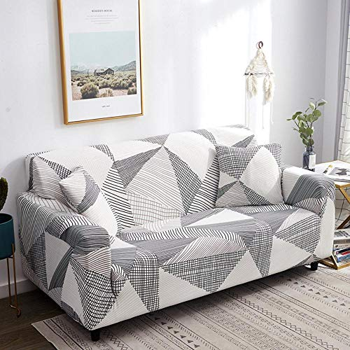Bbrand Non Slip Elastic Sofa Cover Removable Stretch Elastic Fabric Sofa Protector Sofa Cover/Two/Three/Four Seater,Or-29,4 Seater