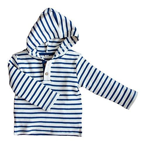 Leela Cotton Leela Cotton Baby/Kinder Kapuzenshirt aus Bio-Baumwolle, Navy/Natur, Gr. 74/80