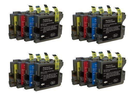 16 Druckerpatronen für Brother mit freier Farbauswahl ersetzt LC970 LC1000 DCP-130C DCP-135C DCP-150C, DCP-330C DCP-350C DCP-357C DCP-540C DCP-560CN DCP-750CW DCP-770CW MFC-235C MFC-240C, MFC-260C MFC-440CN MFC-465CN MFC-660CN MFC-680CN MFC-845CW MFC-885CW MFC-3360CN MFC-5460CN MFC-5860CN