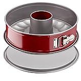 tefalj 1642614 delibake moule a savarin a charnière 25 cm acier rouge carbone
