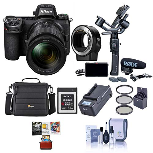 Amazing Deal Nikon Z 6 24.5MP FX-Format Mirrorless Camera Filmmaker's Kit with Mac Accesory Bundle