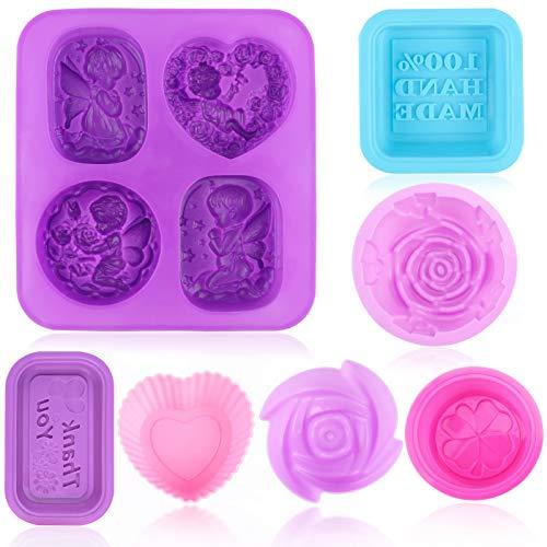 10Pezzi Stampi per Sapone,Silicone per uso alimentare, stampo morbido Angeli per cupcake e muffin,...