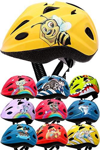 SkullCap Casco per Bambini Progettato dai Bambini Casco da Bicicletta, Ape Miele, S (48-52 cm)