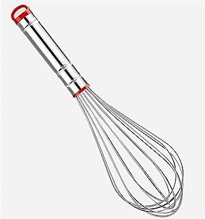 أواني طهي مخفق من فيهيسي ، خفق يدوي مطبخ منزلي من الفولاذ المقاوم للصدأ أحمر (6 × 29 سم) قضيب تقليب الزبدة ، أدوات خبز منزلية