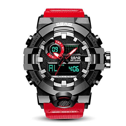 HWCOO SBAO Uhren Elektronische Uhr Studenten Sportuhr Paar große Zifferblatt Quarzuhr (Color : 4)