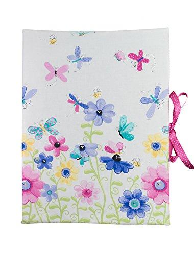 bettina bruder - Sammelmappe DIN A3 - innen 30 Sichthüllen Blumen weiß rosa
