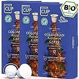 BIO Kaffeekapseln von My-CoffeeCup | Kompatibel mit Nespresso®*-Maschinen | Industriell kompostierbare Kapseln ohne Alu (Colombian Rainforest Caffè, 30 Kapseln)