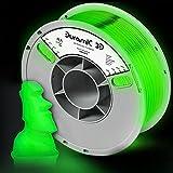 DURAMIC 3D PLA Glow in The Dark Filament 1.75mm Glow Green, 3D Printing PLA Filament 1.75mm Dimensional Accuracy +/- 0.05 mm, 1kg Spool