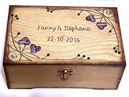 boite à bijoux bois personnalisée