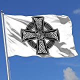 shenhaimojing Keltisches Kreuz Alte Keltische Symbole Gartendekoration Flagge,Große Saisonale Gartenflaggen,3X5 Ft Haus Yard Flagge,Langlebige Willkommensflagge