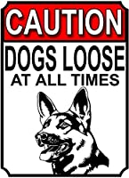 注意犬は常に緩んでいますブリキの看板壁の装飾金属ポスターレトロなプラーク警告看板オフィスカフェクラブバーの工芸品