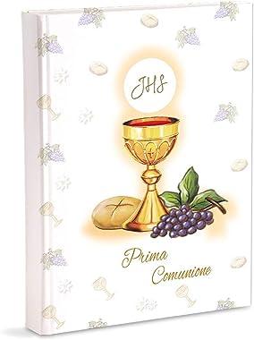 Mareli Album Photo pour première Communion, 23 x 30 cm, avec 30 Feuilles et 4 Pages, Blanc