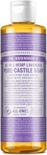 Dr. Bronner's - Pure-Castile Liquid Soap (Lavender, 8 ounce) - Made with Organic Oils, 18-in-1 Uses: Face, Body, Hair, Lau...