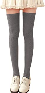 Spring Sexy Extra Long Tight High Socks for Women Girl Over Knee Leg Warmers Cotton Crochet Tight High Boot Socks Leggings
