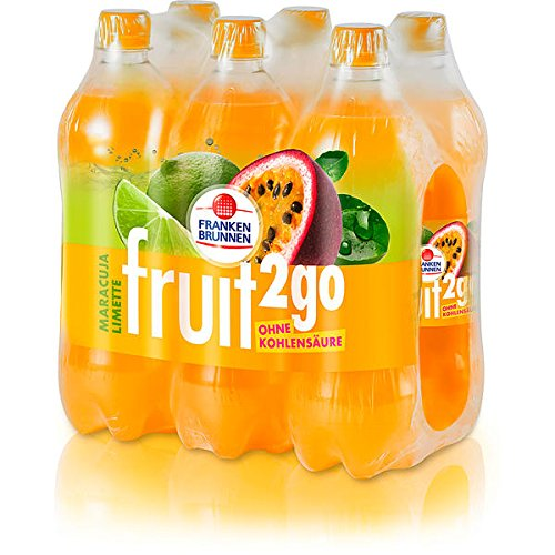 Franken Brunnen fruit2go Maracuja-Limette Erfrischungsgetränk 6 x 0,75l (inkl. 1,50 € Pfand)